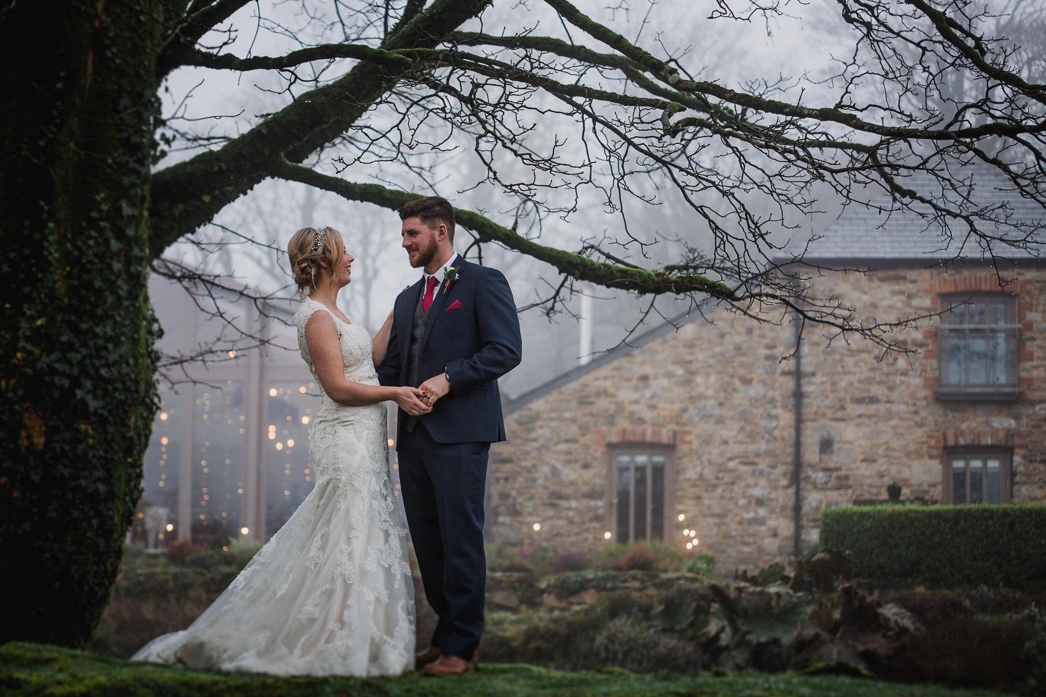 winter wedding trevenna barns